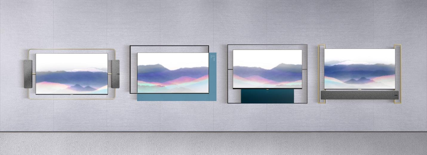 TCL Living Window Series Art Deco, Abstract Beauty, Modern Simplicity and Oriental Elegance